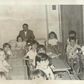 Andrés Gómez en la escuela