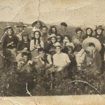 Familia Sánchez de cosecha