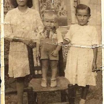 Posado de Fidela y sus hermanos