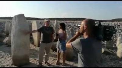 Rodaje del Rodaje de Salvemos el Dolmen de Guadalperal - Canal 4 noticias