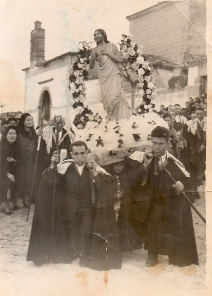 Eugenio y Baudilio con el Resucitado