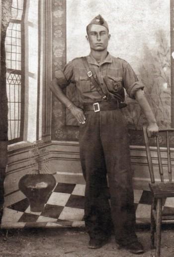 Rufino Zamora en la Mili